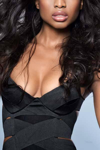Ethnic woman's breast