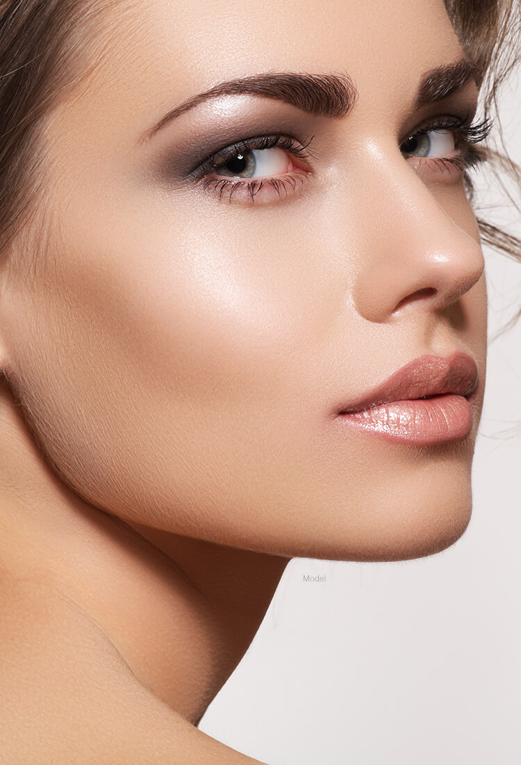 Woman with nice jaw line