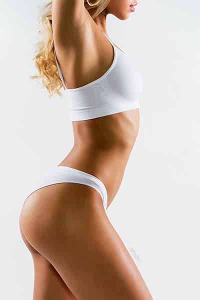 Profile of woman's body